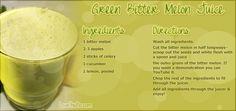 Green Bitter Melon Juice Recipe