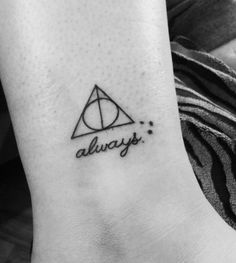 Harry Potter Deathly Hallows Tattoo with Always