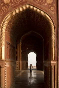 The mosque inside the Taj Mahal complex has its own magic in the golden morning light! (Shot with a perspective-control lens)