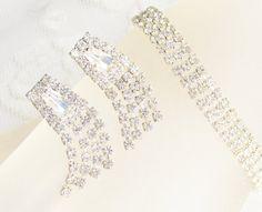Vintage Clear Rhinestone Bracelet Dangle by GrandVintageFinery