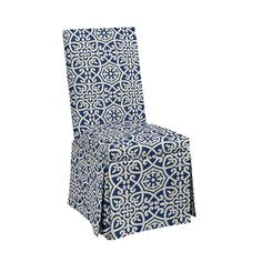 upholstered parsons chair casters nailheads contrast fabric on