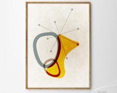 impression jet d'encre Mid century Art moderne art rétro par Fybur