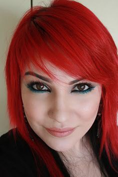 I've always wanted bright red hair. one day...one day.