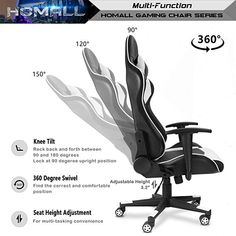 Homall Gaming Chair Ergonomic High Back Racing.Homall Gaming Chair High Back Racing Style Chair Hollow . Homall S Racer Series Gaming Chair Executive Swivel Office . Homall Speed Series Racing Chair Ergonomic High Back . Gamer Chair, Desk Chair, Industrial Chair, Montage Photo, Home Office Chairs, Metal Stars, Cool House Designs, Cool Chairs, Link