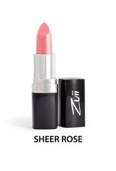 Zuii Organic - Naturalna szminka do ust - Sheer Rose [Jasny róż]. Bogata w surowce pochodzące z certyfikowanych upraw organicznych, takich jak oleje z jojoby, słonecznika i aloes zawierający witaminy A, E, B1, B2 i B6.  Naturalna pomadka do ust Zuii Organic chroni i nawilża delikatną skórę ust.