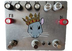Fuzzrocious Rat King Demo - Effects Bay Bass Pedals, Guitar Pedals, Rat King, Rats, Paddles, Guitars, Eye Candy, Boxes, Diy