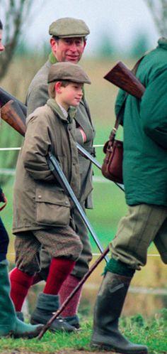 December 26, 1996: Prince Harry attends a hunt in Sandringam.(x)
