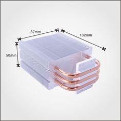 High performance cooling medical radiators aluminum heatsink with copper heatpipes .
