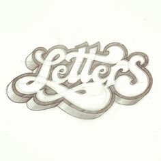 'Letters' sketch from a while back. #lettering #script #sketch