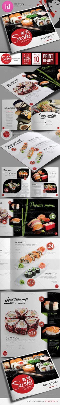 Fresh Sushi Restaurant Menu Template