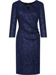 Sukienka wizytowa Elida V, wyszczuplająca kreacja z delikatnym połyskiem.