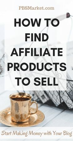 Learn how to find Affiliate Product to sell. Start making money with your blog by selling affiliate products.