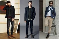 mens slim fit blazer chinos look - Google Search