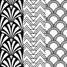 Fancy Art Deco Fan Pattern Black | 381786 | Home Design Ideas