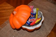 Tutorial: Pumpkin Candy Dish | Dollar Store Crafts
