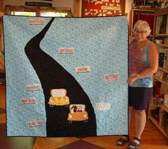 Great backing idea for Row By Row quilt(s) | This one is from winner @ Homespun Fabrics in Endeavor, WI