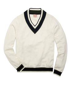 Cotton and Wool Cricket Sweater - Brooks Brothers