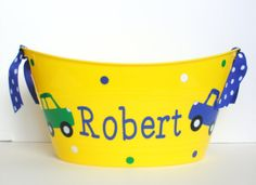 Personalized Car and Truck Easter Basket / by RayneEDayCrafts, $10.00