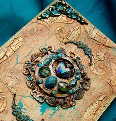 Zuzu's Petals 'n' Stuff: Altered book box (DecoArt makeover)....