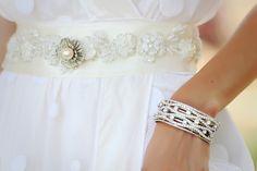 Gertrude Vintage Crystal Bracelet - VB0005. $125.00, via Etsy.