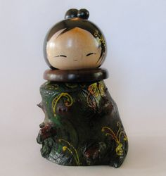 Linden Kokeshi by NaomiGallery on Etsy