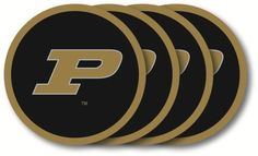 PURDUE BOILERMAKERS  4 PACK VINYL COASTER SET FROM DUCKHOUSE SPORTS #MissouriTigers