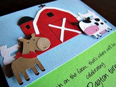 Barnyard Party Invitation  Down on the Farm by ScrapYourStory, $2.50
