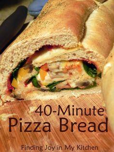 Finding Joy in My Kitchen: 40-Minute Pizza Bread