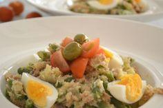 Stamppot nicoise! De smaken van de salade komen helemaal terug in de stamppot; Sperziebonen, tonijn ei & olijf.