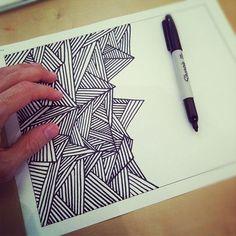 48 Ideas doodle art ideas inspiration creative zentangle patterns for 2019 Doodles Zentangles, Zentangle Patterns, Art Patterns, Cool Patterns To Draw, Zen Doodle Patterns, Easy Zentangle, Doodle Drawings, Easy Drawings, Sharpie Drawings