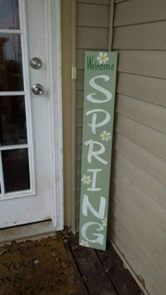 Check out this item in my Etsy shop https://www.etsy.com/listing/520169991/spring-porch-sign-reversible-vertical