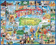 Puerto Rico Art | Puerto Rico by James Mellett Illustration
