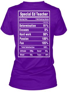 Discover Special Ed Teacher T Shirts And Hoodies T-Shirt, a custom product made just for you by Teespring. With world-class production and customer support, your satisfaction is guaranteed.