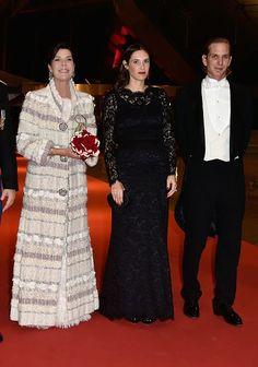 (L-R) Princess Caroline of Hanover, Tatiana Santo Domingo and Andrea Casiraghi attend the Monaco National Day Gala in Grimaldi Forum on Nov 19, 2014  in Monaco, Monaco.