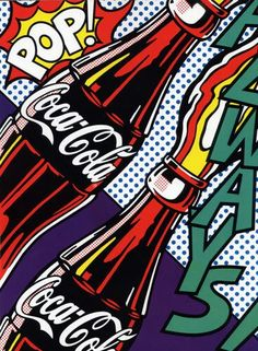Cola pop art