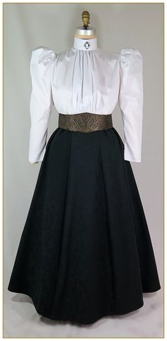 Paisley Skirt, Style #C0405-B: Victorian Clothing at Premier Designs Historic Clothing