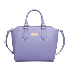 Fashion PU Light Purple Big Capacity Handbag Shoulder Bag