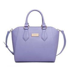 Fashion PU Light Purple Big Capacity Handbag Shoulder Bag