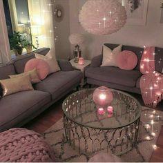 Romantic Living Room Decor With Valentine Themes 42 Romantic Living Room, Cozy Living Rooms, Apartment Living, Living Room Decor, Bedroom Decor, Apartment Ideas, Bedroom Ideas, Teen Bedroom, Girl Apartment Decor