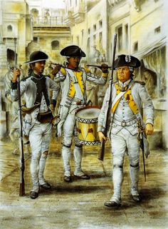 The French Regiments in the American War of Independence American Revolutionary War, American Civil War, American History, Independence War, American Independence, Military Art, Military History, Independencia Usa, Seven Years' War