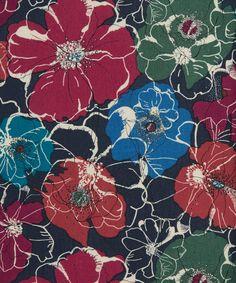 Liberty Art Fabrics Poppy Rose C Tana Lawn Cotton   Fabric   Liberty.co.uk