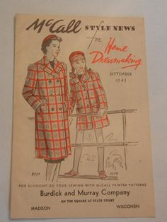 Vintage 1940s McCall Style News for Home Dressmaking