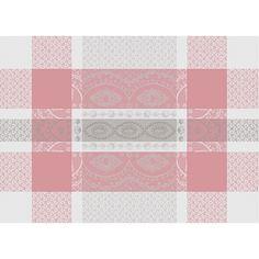 Set de table Cérémonie Garnier-Thiebaut - Modèle : Mathilde- Set de table en coton anti-tache - Coloris : rose