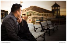 Mauricio and Priya celebrated their first Valentine's Day as a married couple with a photo session in Old Town, Alexandria.  PSK photography team snapped a candid moment of the couple at the waterfront.