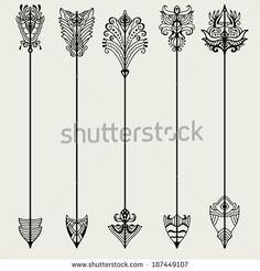 arrows Stock Photos, Medieval arrows Stock Photography ... Tattoo ideas