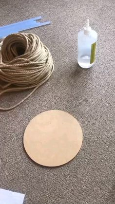 Diy Crafts For Home Decor, Rope Crafts, Diy Crafts Hacks, Diy Crafts For Gifts, Diy Arts And Crafts, Fun Crafts, Diy Projects, Diy Para A Casa, Diy Wall Art