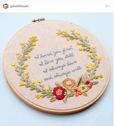 Gulushthreads instagram Hoop art embroidery