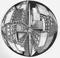 5 Point Perspective Buildings by JordanTuckerDesigns