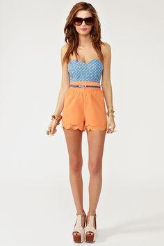 tangerine shorts. spring!