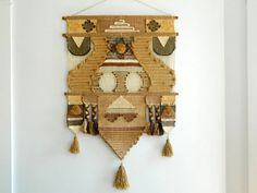 Large 70s Woven Wall Hanging Don Freedman by MonkiVintage on Etsy, $220.00